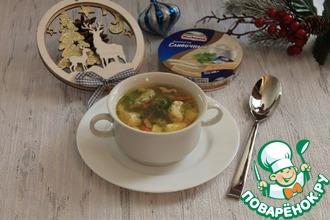 Рецепт: Курино-овощной суп с сырными галушками
