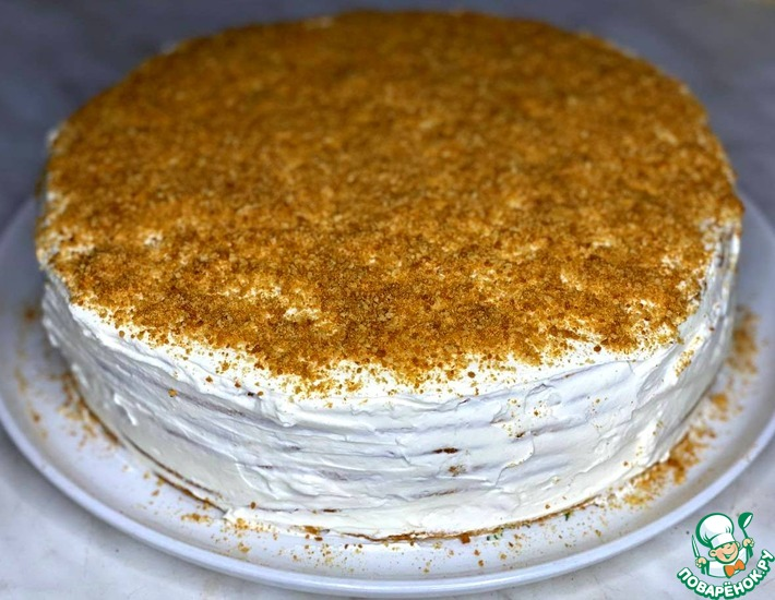 Рецепт: Торт Медовик со сливочно-сметанным кремом