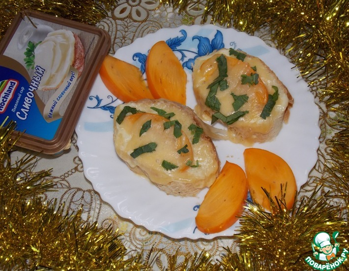 Рецепт: Бутерброд с хурмой и сыром