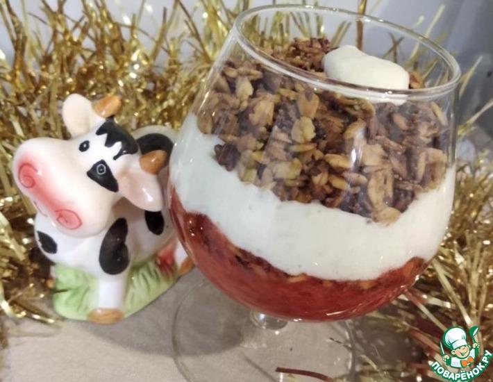 Рецепт: Десерт с сливочным творожным сыром