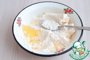 Сливочное печенье с творогом Сахарная пудра