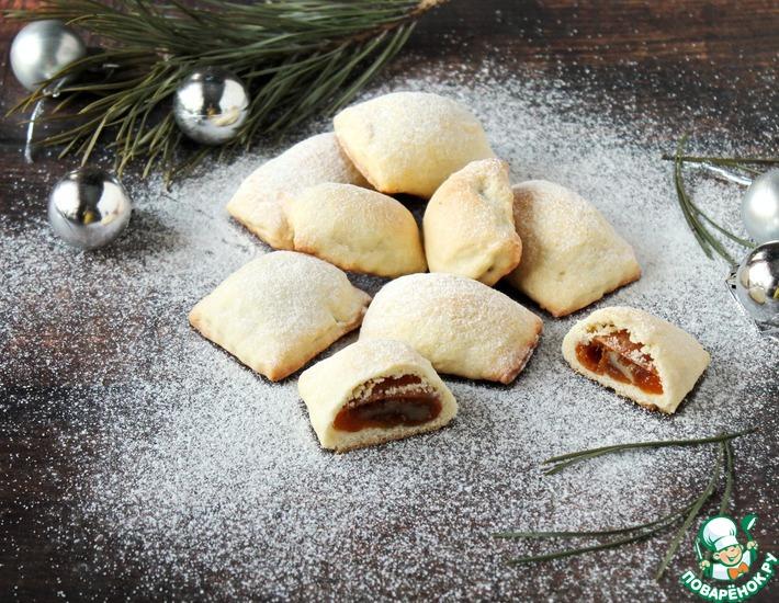 Рецепт: Печенье с курагой и черносливом