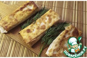 Рецепт: Закуска из лаваша с вкусной начинкой