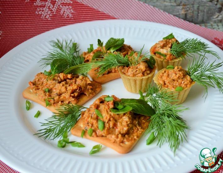 Рецепт: Овощная икра со сливочным сыром