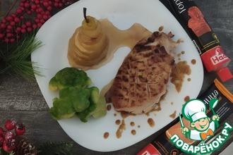 Рецепт: Филе индейки в горчичном-медовом соусе