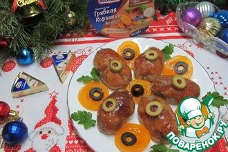 Рецепт: Фаршированные куриные шейки