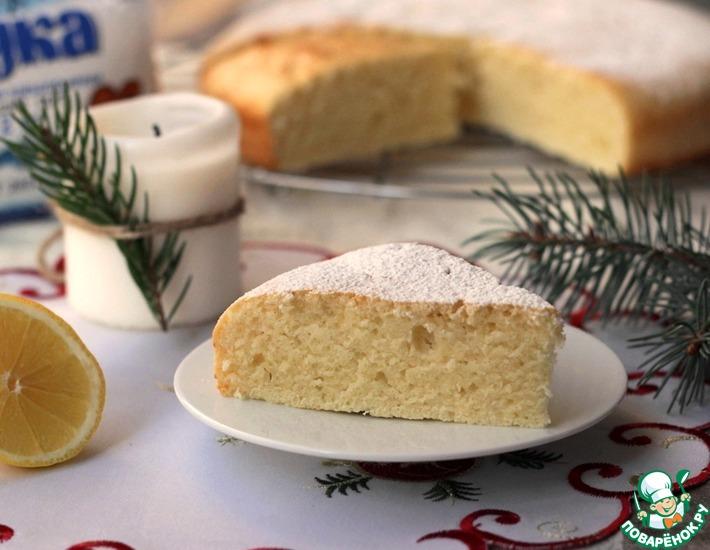 Рецепт: Нежный лимонный пирог на сметане