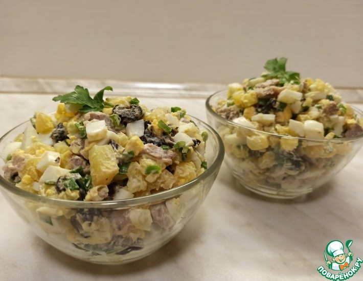 Рецепт: Салат мясной с черносливом