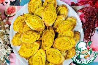Рецепт: Печенье Золотистые лодочки с куркумой