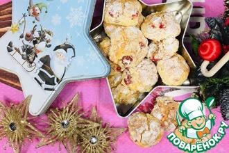 Рецепт: Творожное печенье с сухофруктами и орехами