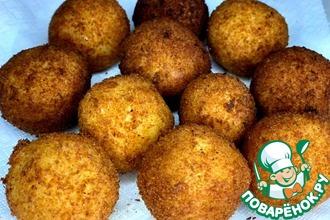 Рецепт: Картофельные шарики с Моцареллой