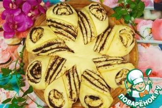 Рецепт: Порционный сдобный маковый пирог с выкрутасами