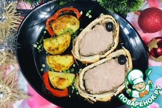 Рецепт: Биф Веллингтон говядина с лесными грибами