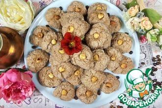 Рецепт: Шоколадное печенье с фундуком