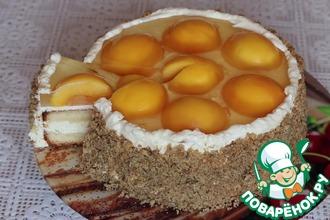Рецепт: Торт бисквитный с персиком