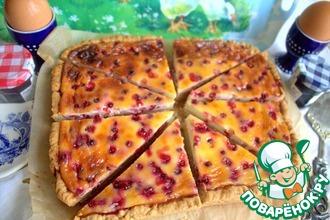 Рецепт: Норвежский пирог с брусникой