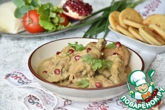 Рецепт: Курица под соусом сациви