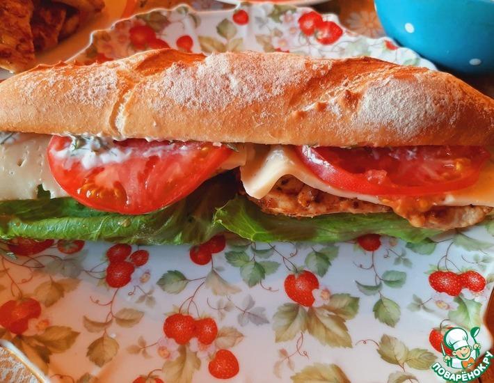 Рецепт: Макси сэндвич с индейкой