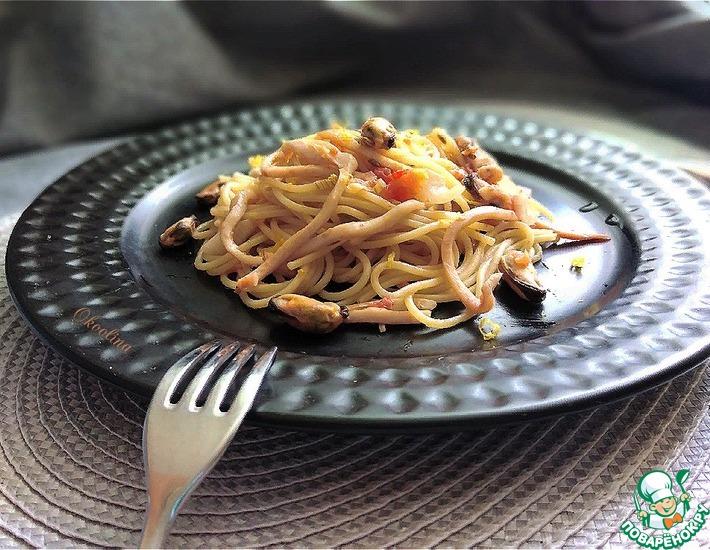 Рецепт: Паста с морепродуктами, томатами и фенхелем
