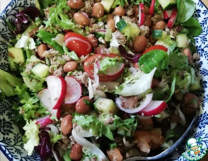 Рецепт: Салат из фарша с овощами