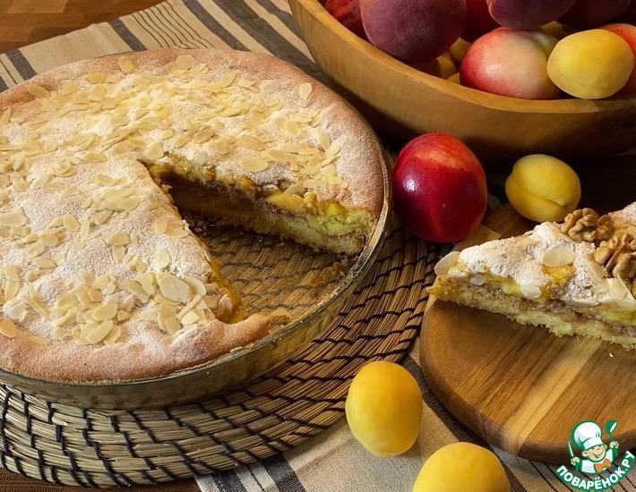Рецепт: Пирог с персиками