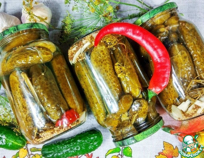 Рецепт: Маринад Купеческий для овощей без стерилизации