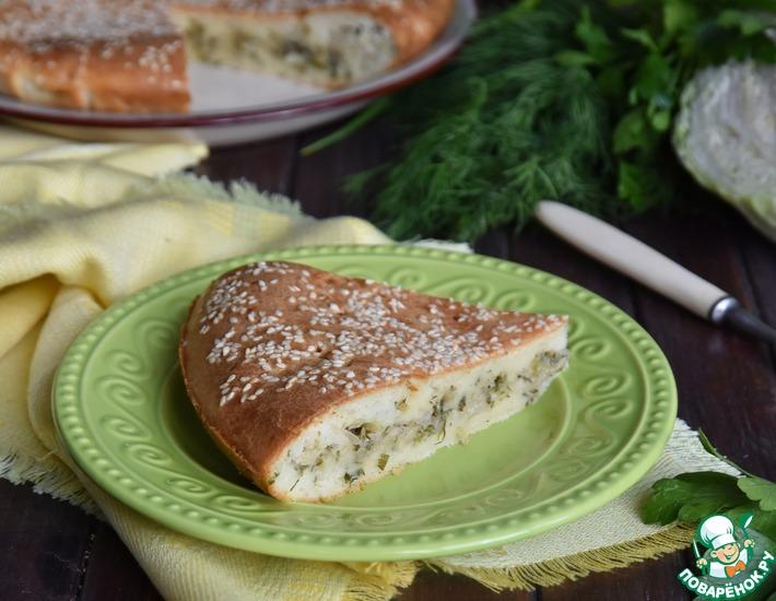 Рецепт: Еврейский заливной пирог на кефире