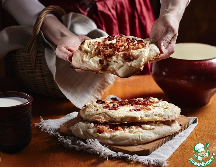 Рецепт: Пылающий пирог Фламмкухен