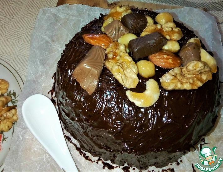 Рецепт: Нью-йoркский шоколадно-ореховый торт