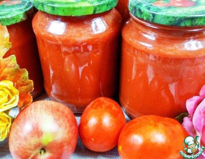 Рецепт: Соус Пиццерия из яблок и томатов