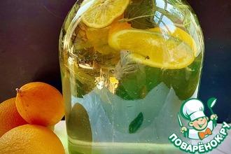 Рецепт: Мохито с апельсином и лимоном