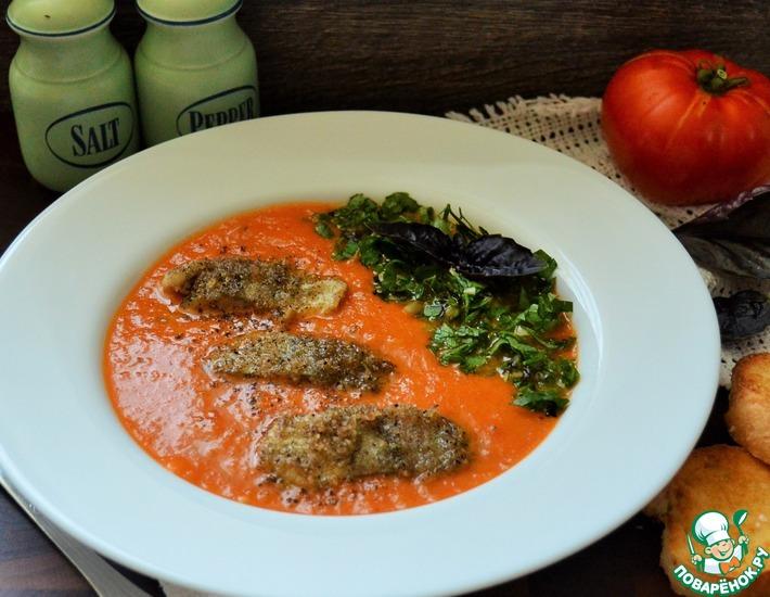 Рецепт: Итальянский томатный суп с треской