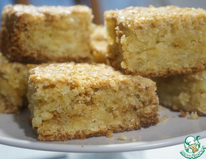 Рецепт: Пирог насыпной овсяный