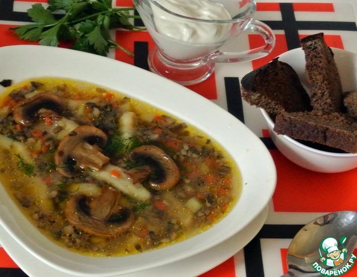 Рецепт: Грибной суп с клёцками