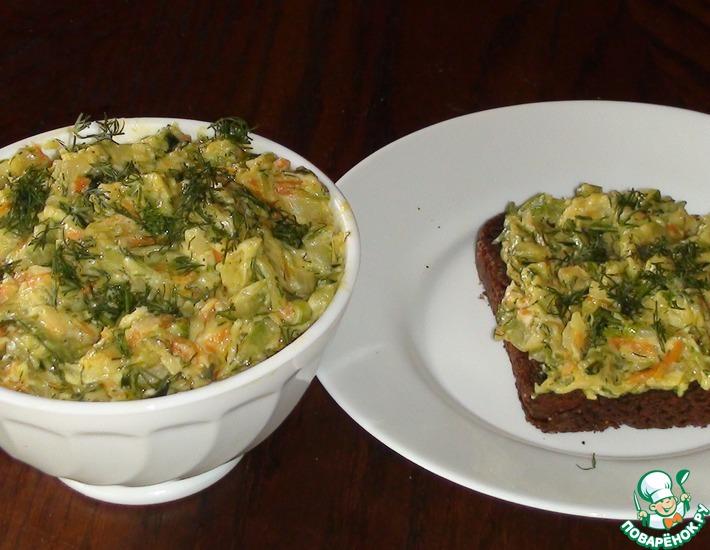 Рецепт: Закуска из кабачка с плавленым сырком