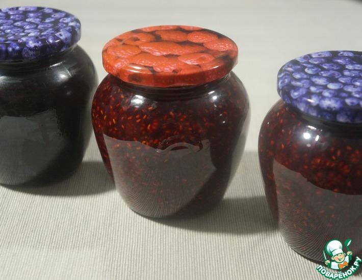 Рецепт: Заготовка малины и черники