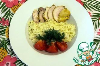 Рецепт: Отварной рис на чесночном курином бульоне
