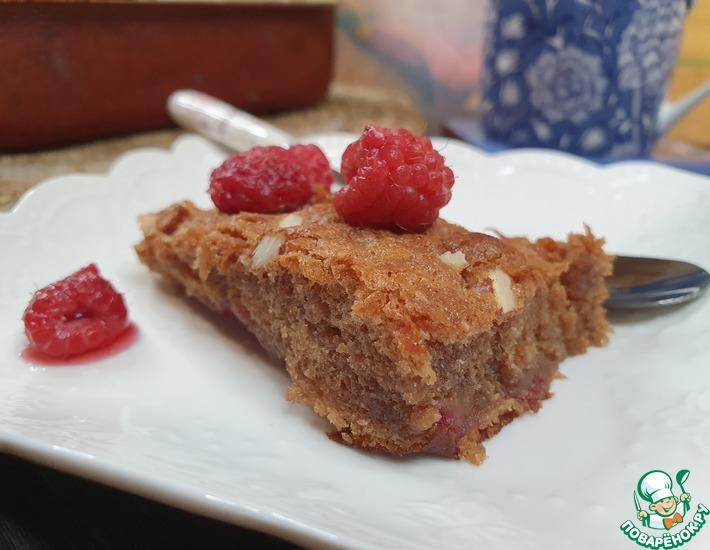 Рецепт: Шоколадно-малиновый пирог