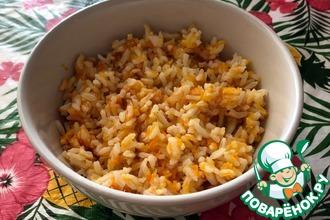 Рецепт: Тыквенно-морковный рисовый гарнир/каша