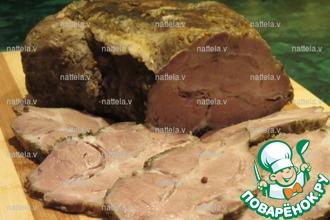 Рецепт: Сочное мясо в мультиварке