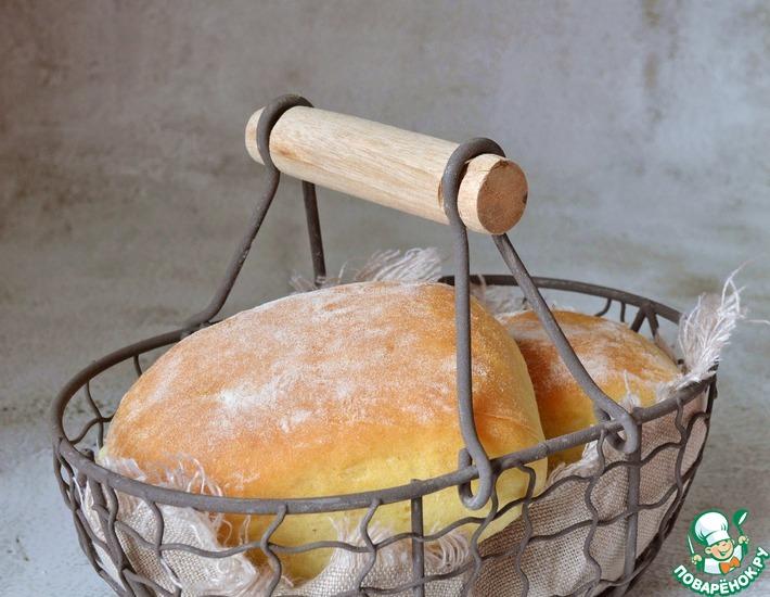 Рецепт: Пшеничные булочки на йогурте