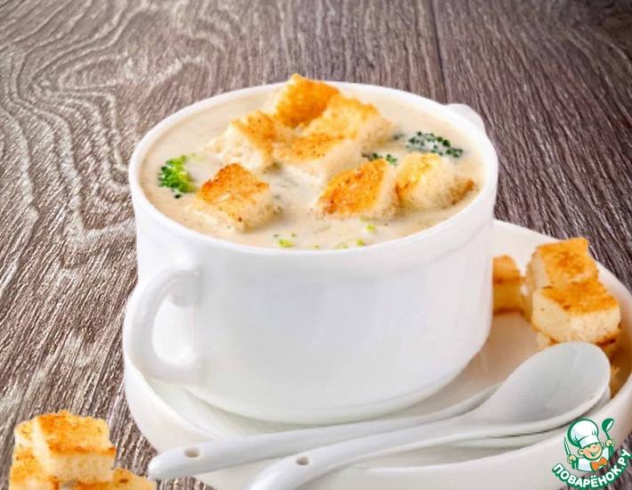 Рецепт: Крахмальный суп-пюре с нотками плавленного сыра