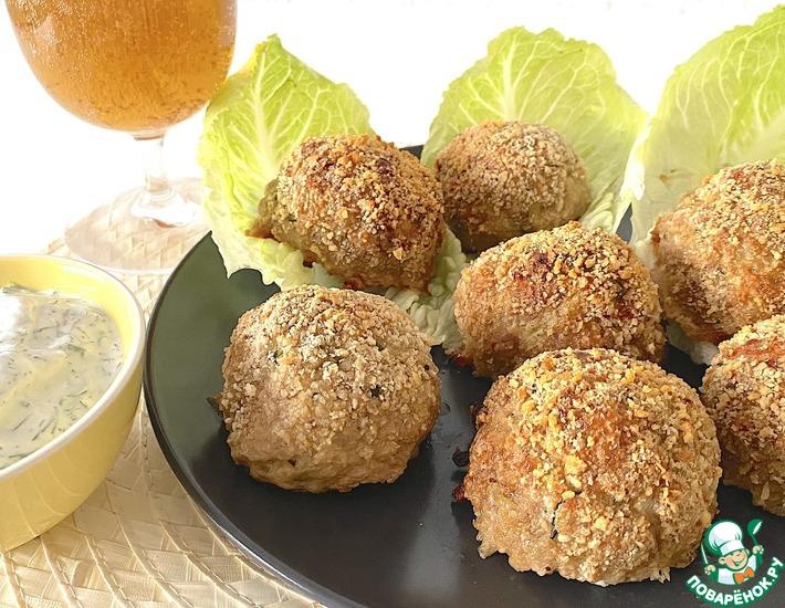 Рецепт: Нежные, хрустящие мясо кабачковые шарики