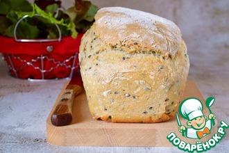 Рецепт: Пышный хлеб на кефире с семенами