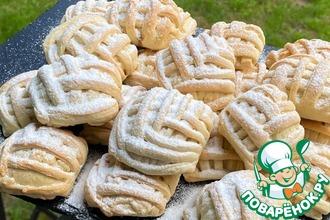 Рецепт: Печенье с яблочно-ореховой начинкой