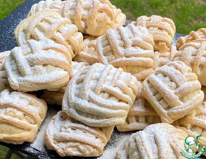 Рецепт: Печенье с яблочно-ореховой начинкой<span id=