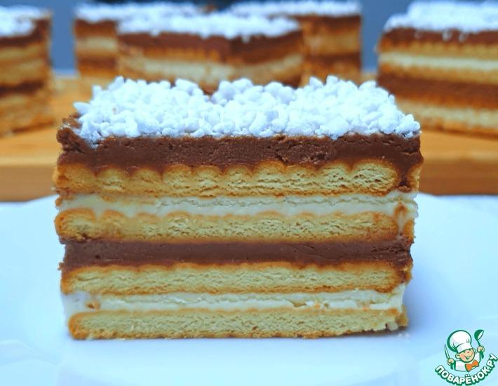 Рецепт: Торт «Полька» без выпечки