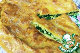 Рецепт: Дагестанская лепешка с сезонной начинкой