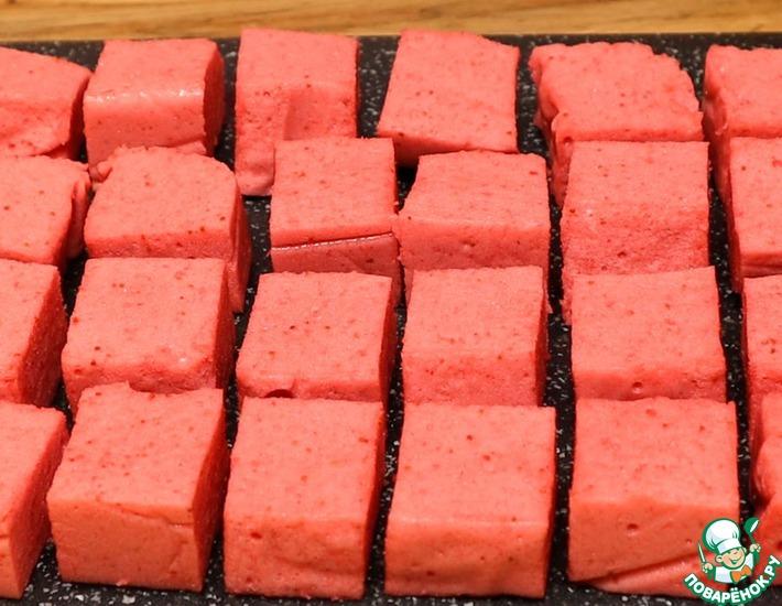 Рецепт: Клубничное суфле на желатине