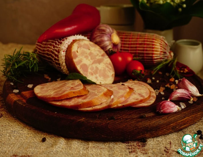 Рецепт: Ветчина индюшино-куриная со сливками авторская